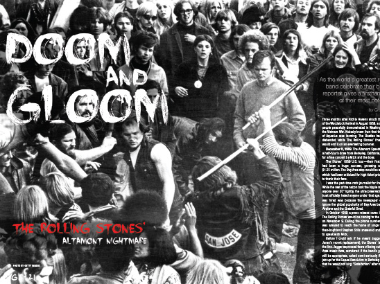 The Rolling Stones Altamont Layout