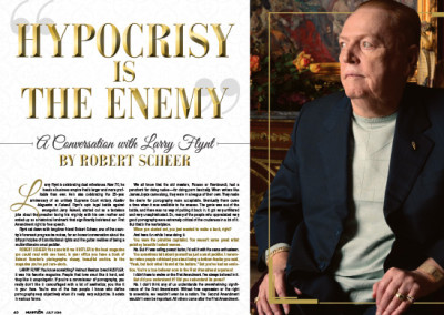 Interview with Larry Flynt Layout