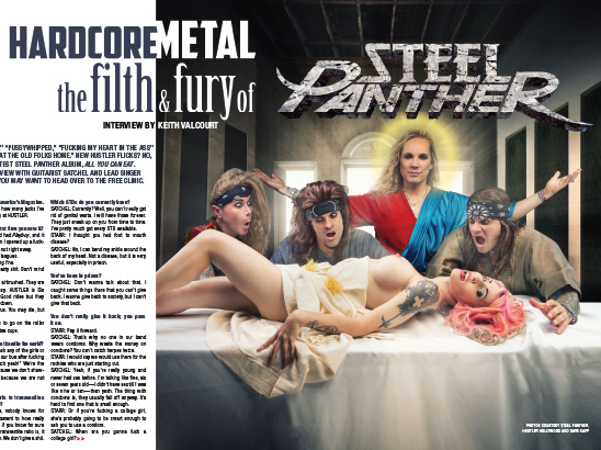 Steel Panther Layout