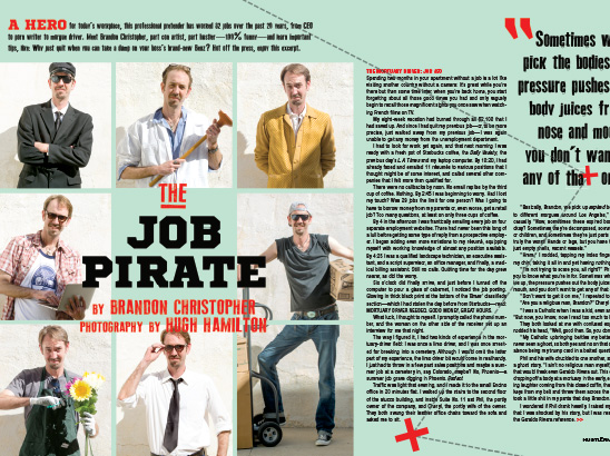 The Job Pirate Layout