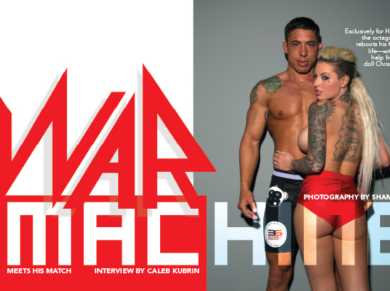 War Machine & Christy Mack Layout