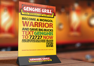 Genghis Grill Table Tent