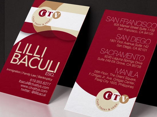 CTV Law Business Cards