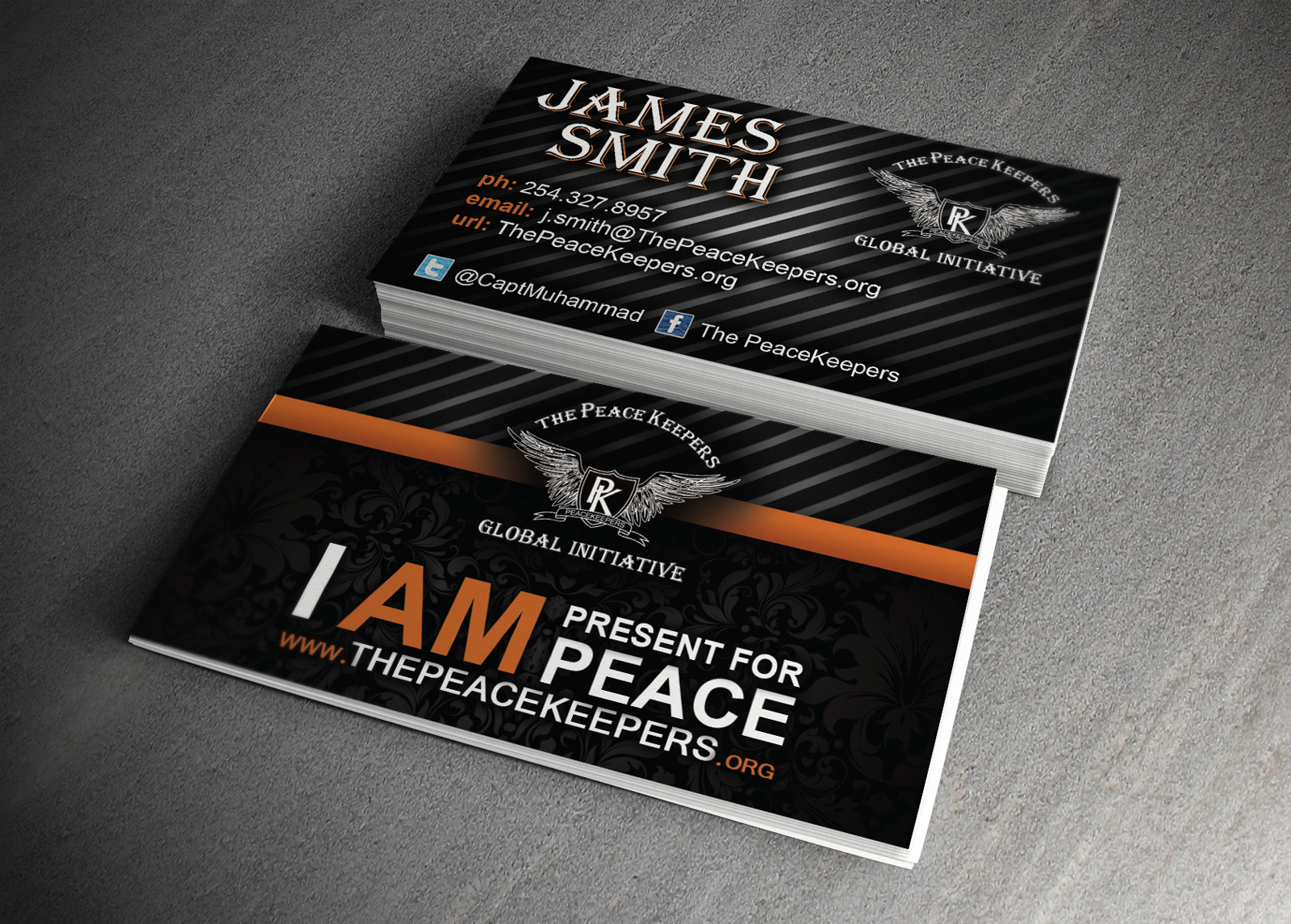 Peace keepers business card wilferd guenthoer experienced business card design colourmoves