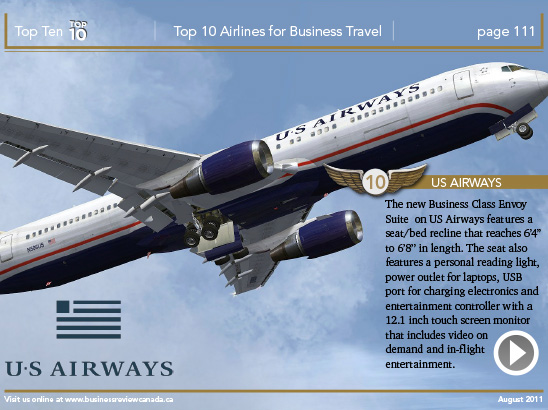 Top 10 Business Airlines Layout