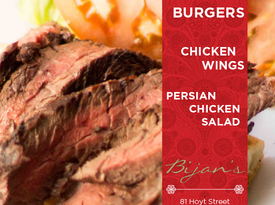 Bijan's Menu & Business Cards