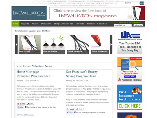 LiveValuation Magazine Webskins