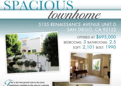 SDHomes.com Real Estate Flyer