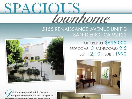 SDHomes.com Real Estate Flyer